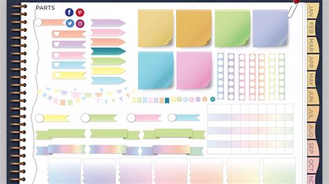 A Wild Plan Denim And Rainbow Ombre Goodnotes Planner Overview Youtube Goodnotes Planner Template