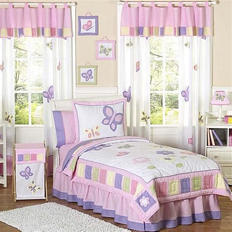Jojo Butterfly Crib Bedding Sweet Jojo Designs Butterfly Bedding Collection In Pink Purple Buybuy Baby
