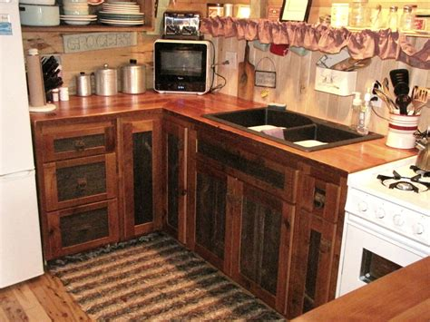 Recycle Kitchen Cabinets Reclaimed Barnwood Kitchen Cabinets Barn Wood Furniture Rustic Barnwood And Log Furniture By