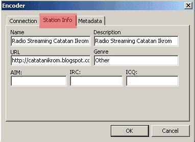 cara membuat blog radio streaming cara membuat radio streaming dengan radiocaster catatan