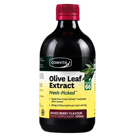 Olive Leaf Extract Detox by Comvita Olive Leaf Extract Mixed Berry Flavour 500ml
