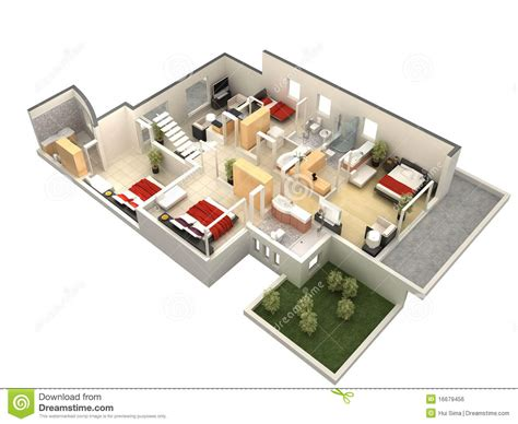 how to make a computer generated floor plan 3d floor plan royalty free stock image image 16679456