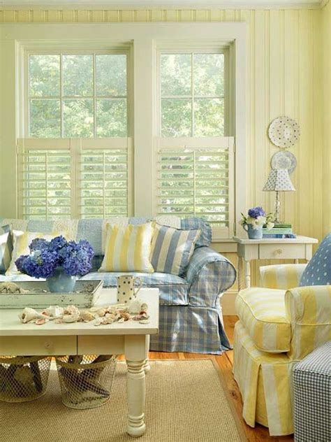 blue yellow living room everything coastal beach cottage sea blues and summer