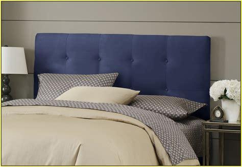 fresh navy blue upholstered headboard bed in