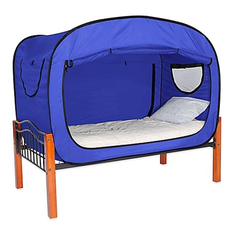 privacy pop bed tent twin buy privacy pop size twin xl bed tent in blue from bed
