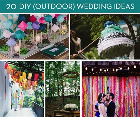 diy backyard wedding ideas roundup 20 amazing diy outdoor wedding ideas curbly