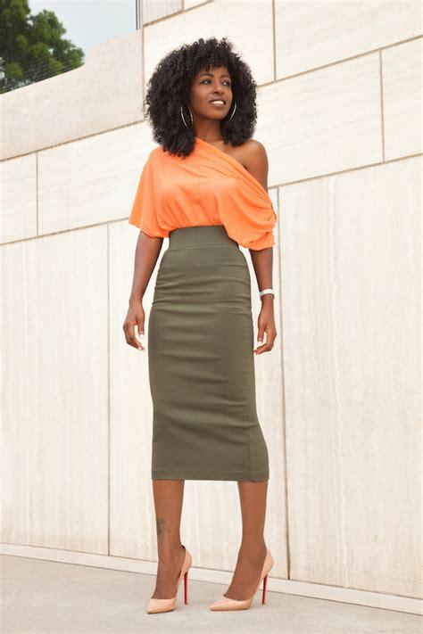 style pantry shoulder blouse pencil midi