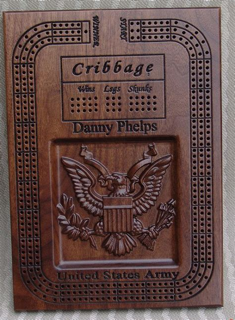 army cribbage board style cribbage board template