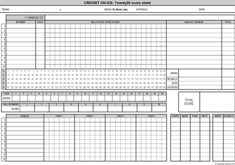 cricket score sheet download free amp premium templates