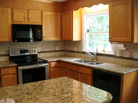 Fabulous Oak Cabinets With Granite Countertops And Color Kitchen Colors With Oak Cabinets And Black Countertops