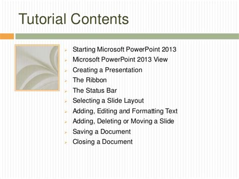 tutorial in powerpoint 2013 powerpoint 2013 tutorial