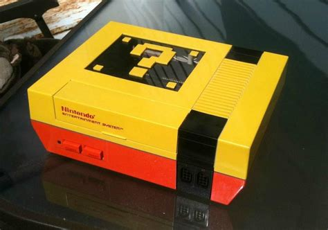 mario console the yellowest nes i ve seen gaming
