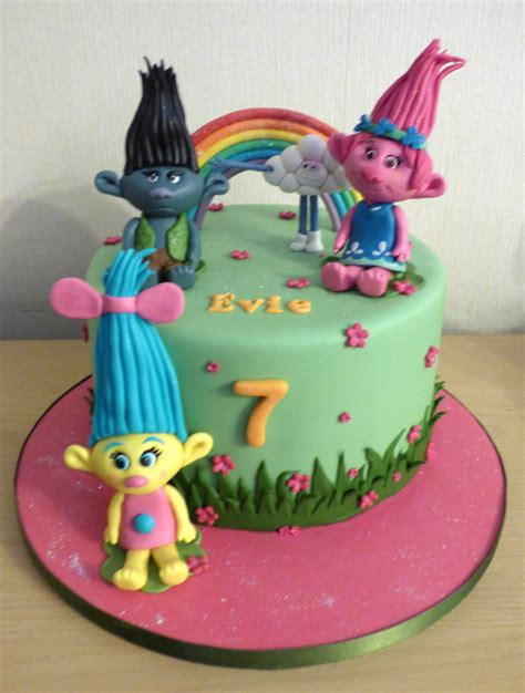themed birthday cakes uk trolls themed birthday cake 171 susie s cakes