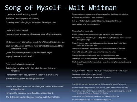 Song Of Myself Essay by Day Poems Walt Whitman Song Of Myself Day Poems Walt Whitman Song Of Myself Day Poems Walt