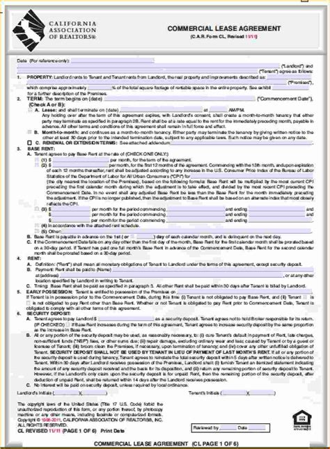 Rental Realtor by Commercial Lease Agreement Doc Simple Resume Format Download