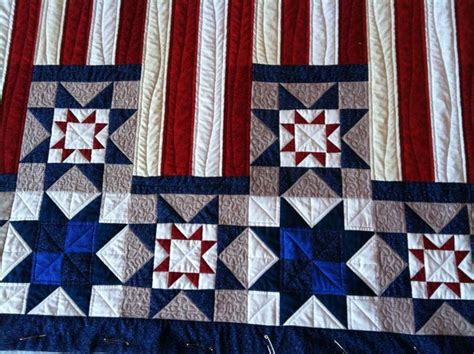 American Quilt Retailer by American Flag Retail Quilt Pattern