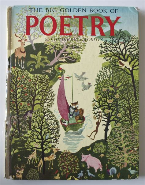 2fish a poetry book books vintage 1949 the big golden book of poetry 85 childhood