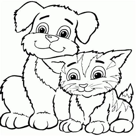 imagenes para saludar cumpleaños gatos y perros mascotas para colorear e imprimir