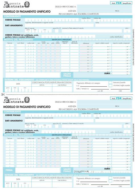 Pagare F24 In Banca by Modello F24 Si Paga In Banca O On Line