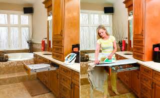 Built In Ironing Board Cabinet Built In Cabinet Ironing Board Rev A Shelf Gadgets Wizard