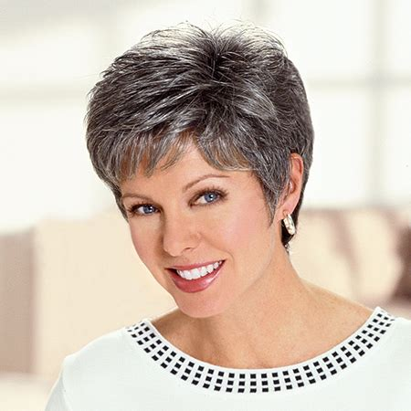 salt and pepper hair highlights for older women cancer patients wigs chemo wigs short wigs diane wig