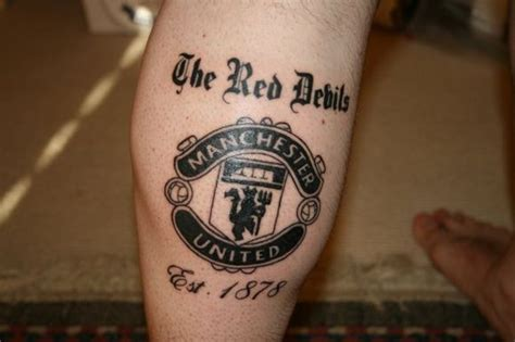 manchester united tattoo football designs tattoona