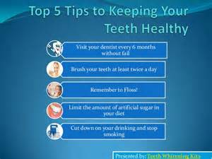 top 5 tips to keeping your teeth healthy