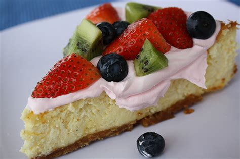 Fruit Cheese Cake fruit cheesecake recipe blogchef net