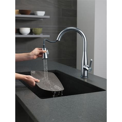 Delta Touch20 Kitchen Faucet by Delta Faucet 9113t Ar Dst Essa Arctic Stainless Pullout