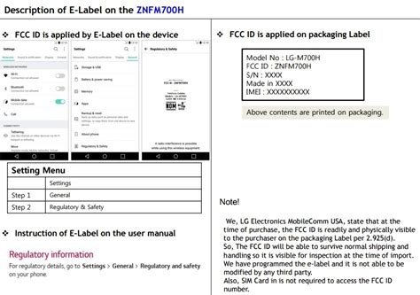 Fcc Find Lg Smartphone With Model Lg M700h Spotted On The Us Fcc