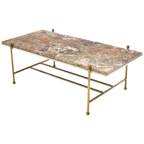 Mid Century Modern Marble Coffee Table Brass And Marble Mid Century Modern Coffee Table For Sale At 1stdibs
