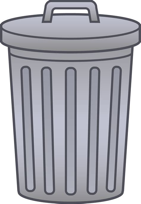 trash clip container clipart waste container pencil and in color