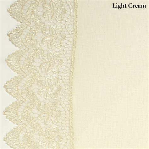 sheer lace curtain panels deville semi sheer lace window treatment