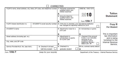Education Credit Tax Forms How To Use Your 1098 T To Claim An Education Credit Money For College Project