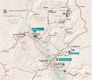 arizona national monuments map maps tuzigoot national monument u s national park service