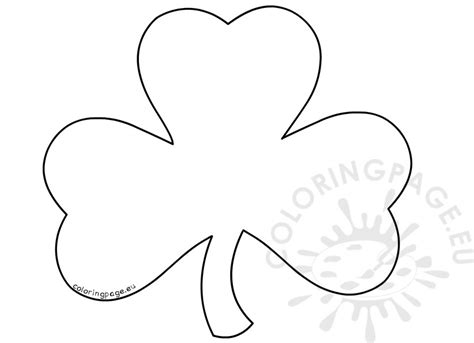 coloring pages shamrock template st patrick s day coloring pages for adults large shamrock