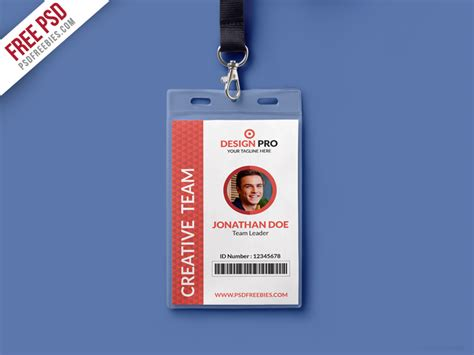 Officer Id Card Templates by Office Identity Card Template Psd Psdfreebies