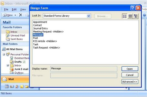 design form outlook add as tested 1 it the form i powertoy please outlook