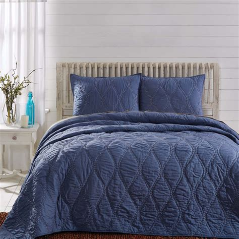 Harbour Navy Quilt   VHC Brands   BlackMountainQuilts.net