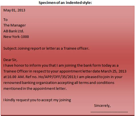 Indented Style Business Letter Definition Format Of A Business Letter