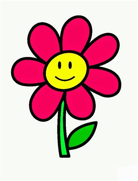 flower simple simple flower kindergarten coloring pages realistic