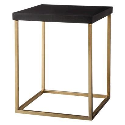 square accent tables threshold gold square black accent table