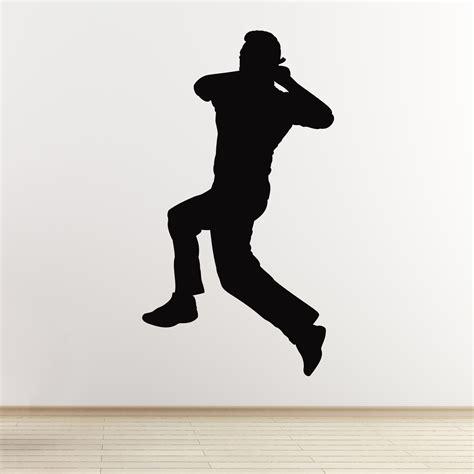 Best House Plans Website Cricket Wall Sticker Spin Bowler Cricketer Wall Sticker