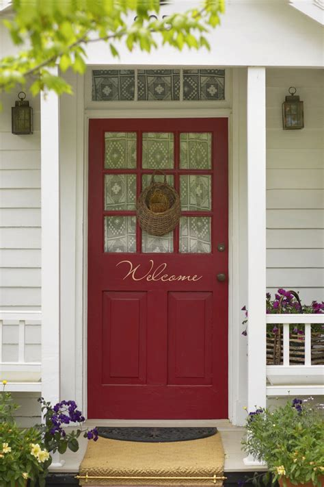 red front doors shut the front door thinking about color