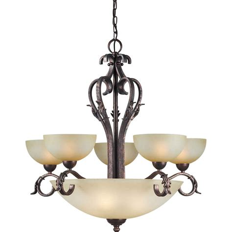 Lowes Chandeliers Black Shop Shandy 32 In 9 Light Black Cherry Tinted Glass Candle Chandelier At Lowes
