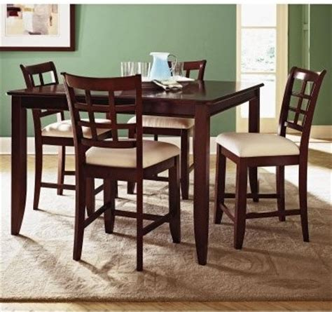 counter high dining tables klaussner furniture manhattan high dining table and 4