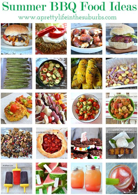 bbq ideas 20 summer bbq food ideas a pretty life in the suburbs