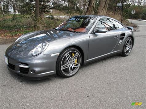 grey porsche 911 turbo 2007 meteor grey metallic porsche 911 turbo coupe