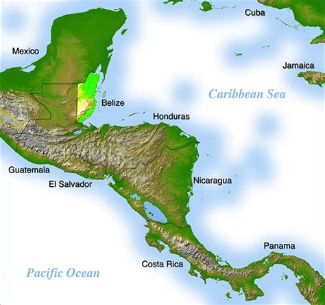 map of mexico and belize where is belize geography and map of belize