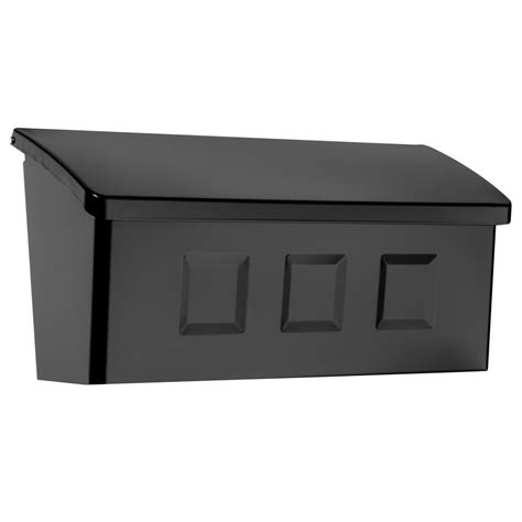 Decorative Wall Mount Mailboxes by Architectural Mailboxes Wayland Black Wall Mount Mailbox